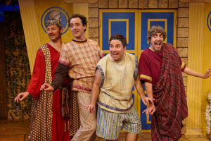 """""""A FUNNY THING HAPPENED ON THE WAY TO THE FORUM"""" at North Coast Repertory Theatre"""