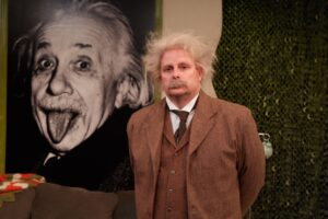 """""""EINSTEIN COMES THROUGH"""" streaming from North Coast Repertory Theatre"""